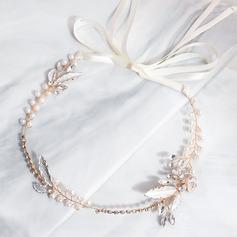 Damer Vackra Och Legering/PVE Pannband med Strass/Venetianska Pärla