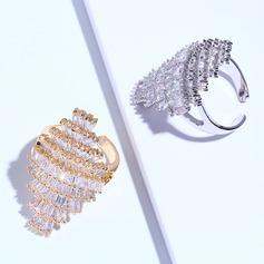 Unique Zircon Brass With Zircon Women's Fashion Rings