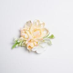 Gentil Satiné/Tissu Corsage du poignet (vendu en une seule pièce) -