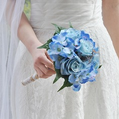Classic Round Satin Bridal Bouquets (Sold in a single piece) -