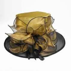 Organza/Feather Chapeaux de type fascinator/Kentucky Derby Des Chapeaux
