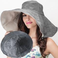 Dames Style Classique Coton avec Une fleur Disquettes Chapeau/Chapeaux de plage / soleil