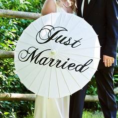Simples Noiva e Noivo Papel de alta qualidade/De madeira Sombrinha Casamento com Impressão