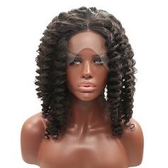 Curly Syntetiska peruker Lace Front Parykar
