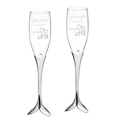 Personalized Love Design Glass/Aluminum (Set of 2)