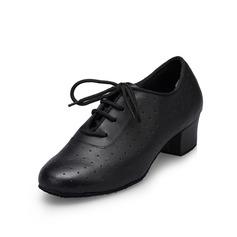 Dos homens Couro Saltos Bombas Treino Sapatos de dança