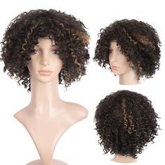 Curly Bob Syntetiske parykker African American Parykker