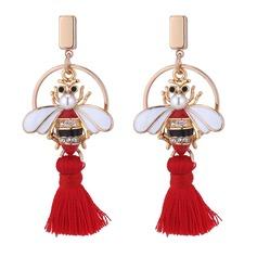 Moda Aleación Diamantes de imitación La perla de faux con Perlas de imitación Rhinestone De mujer Pendientes de la manera