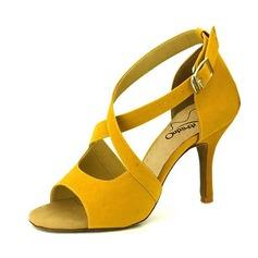 De mujer Ante Tacones Danza latina con Hebilla Agujereado Zapatos de danza