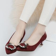 Naisten Mokkanahka Kitten heel Avokkaat Suljettu toe jossa Solki kengät