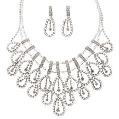 Lysande Legering/Strass Damer' Smycken Sets
