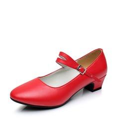 Vrouwen Echt leer Hakken Character Shoes Dansschoenen