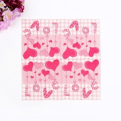 Сердце дизайн Обеда салфетки