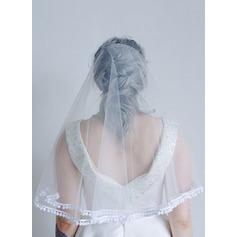 Two-tier Pencil Edge Elbow Bridal Veils