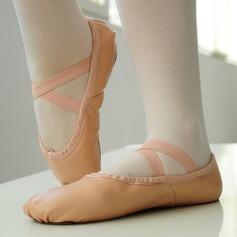Kvinder Ægte Læder Fladsko Ballet Dansesko
