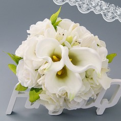 Gorgeous Hand-tied Satin Bridal Bouquets (Sold in a single piece) - Bridal Bouquets