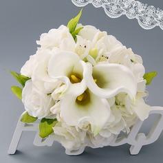 Maravilloso Atado a mano Satén Ramos de novia (vendido en una sola pieza) - Ramos de novia