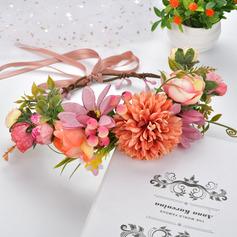 Bonito Flor de seda/Simulação rattan Tiaras