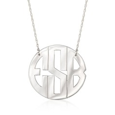 Custom Silver Name Necklace Monogram Necklace - Christmas Gifts