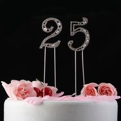 Сияющие Стразы Число Хром юбилей Фигурки для торта