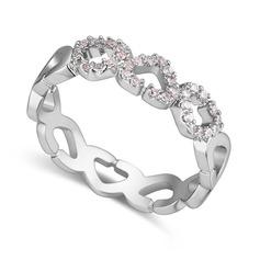 Utsökt Zirkon koppar Damer' Mode Ringar