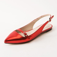 Women's Leatherette Flat Heel Flats Slingbacks shoes