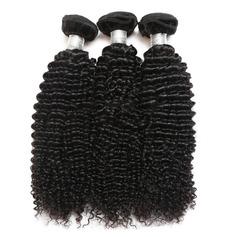 5A Jungfrau / Remy Kinky Curly Menschliches Haar Geflecht aus Menschenhaar (Einzelstück verkauft) 100g