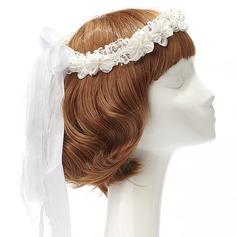 Pen Blonder/Satin Pannebånd med Venetianske Perle