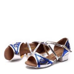 Детская обувь кожа На плокой подошве Латино Обувь для танцев