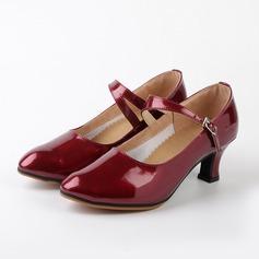 Femmes Similicuir Talons Escarpins Chaussures de Caractère avec Boucle Chaussures de danse