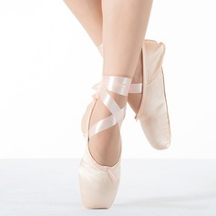 Women's Fabric Flats Pointe Shoes Dance Shoes