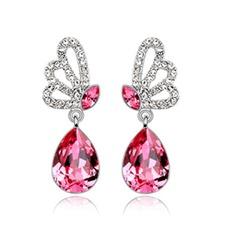 Elegante Legierung mit Kristall Frauen Ohrringe
