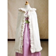 Kid's Faux Fur Wedding Wrap