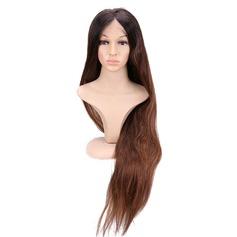 Ej remy Straight Mänskligt hår Full Lace Cap Parykar