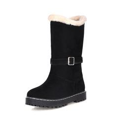 Kvinner Semsket Flat Hæl Mid Leggen Støvler Snø Støvler sko