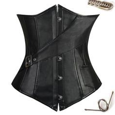 Mujeres Estilo clásico/Elegante/Estilo gótico PU Cinchers de cintura/Corsé Fajas