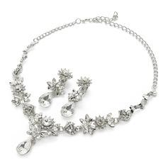 Blomma Formad Legering/Strass Damer' Smycken Sets