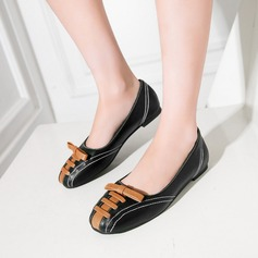 Women's Leatherette Flat Heel Flats Closed Toe With Others shoes