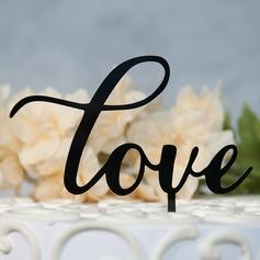 Søt Kjærlighet/Mr & Mrs Akryl Kake Topper