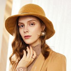 Ladies ' Enkle/Iøjnefaldende/Charmen Uld/Akryl Diskette Hat