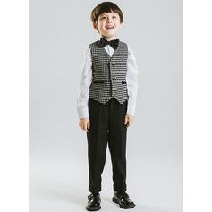 Boys 3 Pieces Elegant Ring Bearer Suits /Page Boy Suits With Vest Pants Bow Tie