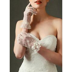 Koronka Krótkie eleganckie rękawiczki Rękawiczki Ślubne Z Haftowana