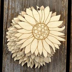 Niza/Diseño de la flor Precioso/Pretty Madera Ornamentaciones de Boda (juego de 10)