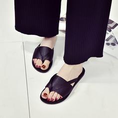 Женщины Атлас Плоский каблук Сандалии Тапочки обувь