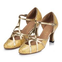 Femmes Suède Talons Sandales Salle de bal avec Ouvertes Chaussures de danse