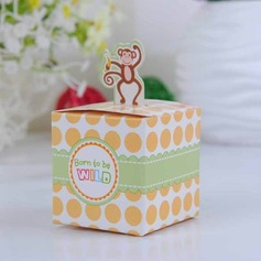 Happy Monkey Baby Shower With Banana Cubic Favor Boxes (Set of 12)