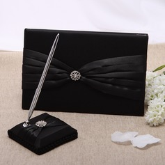 Simple Rhinestones/Sash Guestbook & Pen Set