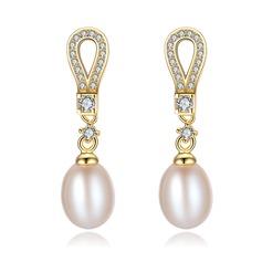 Dames Style Classique Pearl Boucles d'oreilles elle/Amis/la mariée
