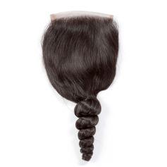"""4""""*4"""" 4A Non remy En vrac les cheveux humains Fermeture (Vendu en une seule pièce) 120g"""