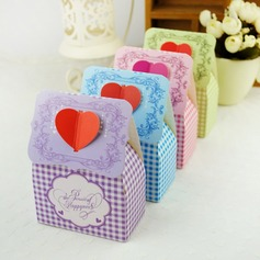Floral Heart Design Favor Boxes (Set of 12)